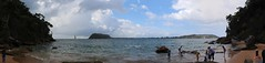 IMG_5518 - IMG_5522 West Head Beach panorama (drayy) Tags: park panorama beach bush track walk hike trail national bushwalking beaches palmbeach secluded pittwater kuringgai brokenbay westhead kuringgaichase