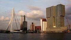 Wilhelminapier (sunset) (Wijnand Kroes Photography) Tags: water skyline rotterdam erasmusbrug wilhelminapier