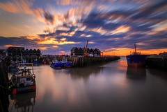 Whitstable_Harbour_Sunset (simondunn) Tags: sunset england sky colour water canon lens boats kent seaside long exposure harbour 10 stop l series whitstable 6d 10stop