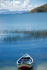 print-2349 (Tom Anirae) Tags: blue sky lake color titicaca boat bolivia isladelsol officialnikkor