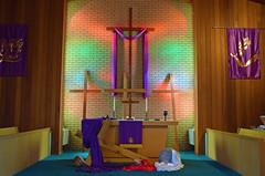Crosses in the Chancel (MTSOfan) Tags: worship crosswalk chancel sanctuary goodfriday lent observance