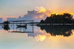 Memories (Landscape Junkie) Tags: seascape clouds reflections boat malaysia calmness kelantan tumpat jubakar landscapejunkie muhamadfaisalibrahim