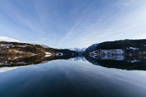 Reflections on the Hardangerfjord