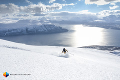 What a view! (HendrikMorkel) Tags: sea norway spring skiing sunny fjord bluebird skitouring lyngenalps sonyrx100iv