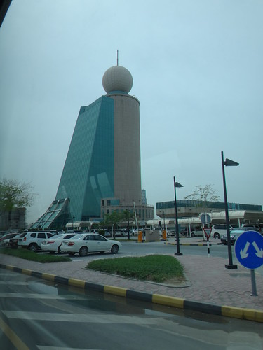 Edificio de Etisalat (empresa de telecomunicaciones). Emirato de Ajmán. Emiratos Árabes Unidos