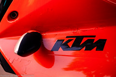 Some Bikes Have Cool Logos!_ (Raphael de Kadt) Tags: red logo cool bright vivid ktm motorbike motorcycle johannesburg fujifilmxt1 fujinonxf50140mmoiswr