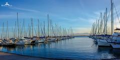 Panorama 1-1 (89lilly) Tags: sunset sea italy reflection water canon boat italia tramonto mare barche acqua riflessi cagliari sardegn moloicnusa canon550d