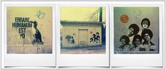 Mimi Le Clown et ? (Triptyque) (@necDOT) Tags: polaroid sx70 mimi montage lille triptyque jacksonfive mimitheclown impossibleproject