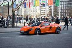 McLaren 650S (ExoticsofGermany) Tags: auto sport yellow mercedes spider spring outdoor hamburg ferrari porsche rs coupe supercar amg fahrzeug 430 991 gt3 jungfernstieg 16m novitec s63 landstrase