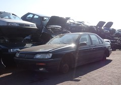 Peugeot 605 SRTI 2.0 aut Etoile 28-1-1994 HL-GX-36 (Fuego 81) Tags: yard 1994 wreck recycling scrap etoile peugeot 605 onk sloperij autodemontage sidecode5 hlgx36