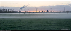 Fog and Sunrise (Peterbijkerk.eu Photography) Tags: mist fog sunrise nederland nl windturbine noordholland a9 heiloo hvc zonsopkomst peterbijkerkeu