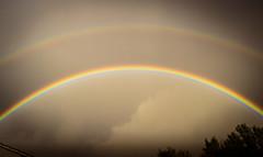 Twice as magical (Mariane's Tree) Tags: sky storm france spring rainbow double provence arcenciel vaucluse