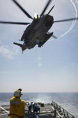 160406-N-FQ994-211 (CNE CNA C6F) Tags: sailor usnavy mediterraneansea ch53 israeliairforce ussporterddg78 exercisenobledina2016