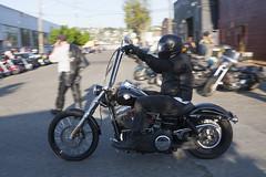 HarleyApeHangers (B Shree B) Tags: seattle sunset cafe motorcycle ballard racers backfire