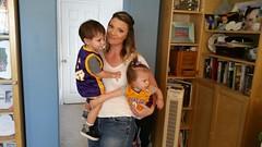 Laker twins (TeamNovak) Tags: cute kids twins babies kobe toddlers bryant lakers babyjersey