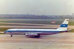 9K-ACK Boeing 707-369C cn 20085 ln 760 Kuwait Airways Heathrow 13May78 (kerrydavidtaylor) Tags: boeing707 boeing707300