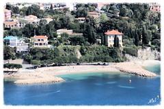 Villefranche sur Mer Nouvelle Plage (Melody Rubeli) Tags: sea mer beach alpes french riviera mare cte plage azur maritimes mditerrane villefranchesurmer