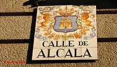 Azulejo de la calle Alcal. Madrid (Carlos Vias-Valle) Tags: azulejo callealcala