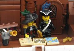 Captain's Cabin (Robert4168/Garmadon) Tags: brick wheel square cabin ship lego interior maps sails cook rig captain cannon sail myles nathaniel jib dirk henri rigging seas jibs bowditch brethren bowsprit spanker whiffo