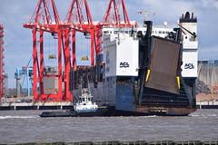 Atlantic Conveyor swings past Liverpool 2 (Gareth Garbutt) Tags: acl rivermersey atlanticcontainerline atlanticconveyor