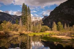 Reflections of Yosemite (Sunny Herzinger) Tags: california travel light mountains tree canon river landscape us unitedstates merced valley yosemite halfdome yosemitenationalpark 6d canonef1635f4lis