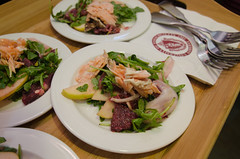Chef Alex Ong 4/19-4/20/16 (UMassDining) Tags: test orange fish alex apple salmon dressing homemade chef taste guest ong