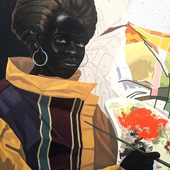 "When Kerry James Marshall visited museums as a young black man from Chicago's Bronzeville, he realized few of the works were by or of people who looked like him - ""there aren't any black old masters."" (rokorumora) Tags: from people man black by him james who or young like kerry marshall few when works were he museums looked chicagos visited bronzeville realized therearentanyblackoldmasters"
