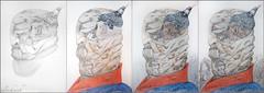 (Weinstckle) Tags: bleistift zeichnung kopf buntstift oberbefehlshaber
