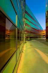 _DSC2224 (durr-architect) Tags: light sun colour reflection netherlands glass architecture modern facade offices almere dfense berkel unstudio