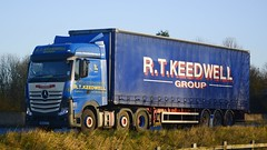 WX15 ETT (panmanstan) Tags: truck wagon mercedes motorway yorkshire transport lorry commercial newport vehicle freight m62 haulage hgv actros curtainsider