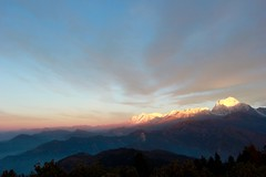 Poon Hill - Dhaulagiri, Annapurna Mountain Range (rajeev maskey) Tags: nepal sky snow mountains nature sunrise trek asia hiking horizon newyear pokhara annapurna himalayas poonhill dhaulagiri