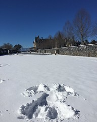 My snow angel at the Biltmore (jackie.moonlight) Tags: white house snow angel nc estate asheville january biltmore wnc 2016