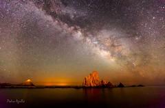 Punta Baja y la Sirena Mayor (Pedro Agull) Tags: marina nocturna almera nebulosa milkyway sirenas valctea arrecifedelassirenas