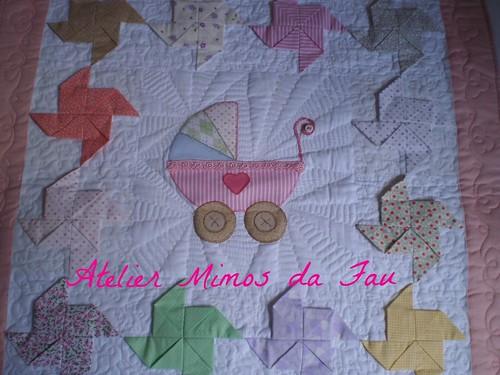 Detalhe Manta para Bebê Pinwheel 3D