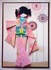 ATC1312 - Akiko (tengds) Tags: pink flowers blue brown white leaves atc artisttradingcard asian japanese geisha kimono obi dots origamipaper bindi papercraft japanesepaper ningyo artistcard handmadecard chiyogami whitedots japanesepaperdoll nailsticker indianbindi origamidoll kimonodoll nailartsticker tengds
