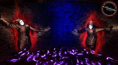 -Burlon- ser bromista y teatral, amante de la Farandula. (Antonio Makeda) Tags: light lightpainting luz de persona noche rojo lila personas fantasia hilo ser nocturnas fantasma pintura exposicion larga fantasmas nocturno personaje oscuridad caretas teatral capucha optica encapuchado enmascarado farandula largaexposicion fibra fraile entes fisgon aparecen bromista burlon linternargb