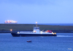 More Activity In Scapa Flow (orquil) Tags: lighting uk greatbritain winter seascape ferry islands bay scotland seaside interesting orkney afternoon dusk illuminations shoreline january gas busy unusual transfer tanker roro lng houton scapaflow lngtanker excelerate arcticprincess shiptoship refrigeratedcargoship hoyhead crossload