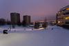 Trosterud (morten f) Tags: winter sky snow playing ski tower oslo kids night barn lights vinter europe outdoor flats block sled sleigh lys snø sledge bakke aking kveld leker 2015 blokk groruddalen trosterud kjelke rattkjelke sommersti