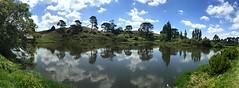 Hobbiton at Matamata in NZ (richwall100 - Thank you for Two Million views) Tags: newzealand lake film reflections tolkien hobbiton matamata