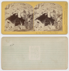 Inhabited Caves, Pin-yon, Mexico. (SMU Central University Libraries) Tags: mexico caves stereograph cavedwellings cavedwellers