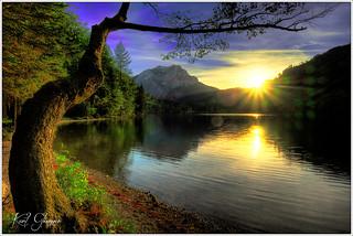 Sonnenuntergang Langbathsee / sunset Langbathsee