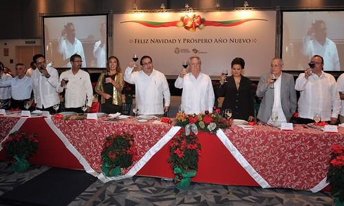 El gobernador Javier Duarte de Ochoa realizó Brindis con Medios de Comunicación.