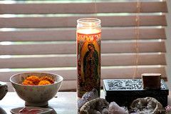 The Offering (rcipfw) Tags: crystals candle altar offering spiritual geodes