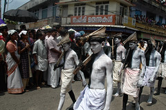 The Grim Reapers With Shovels And Not Scythes at Thrippunithura, Kerala, India (Anoop Negi) Tags: carnival india color festival photography photo grim reaper fair kerala carnaval anoop onam negi bahubali reapers tripunithra ezee123 attachamayam thrippunithura thrippunithra