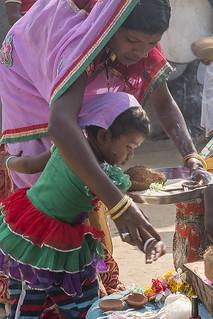 gaura gauri puja ceremony in tribaln village