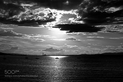 cloudy day b/w (jamiemonsteroo) Tags: blackandwhite white black monochrome river scotland forth fujifilm sillhouette firth 500px ifttt