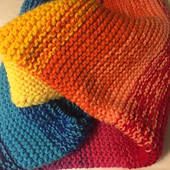 View of the Colors (Pink Knitter) Tags: colorful blanket gartersquishblanket