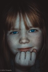 Selma (salas-3) Tags: light portrait girl face photography nice nikon young headshot freckles ringlight d60
