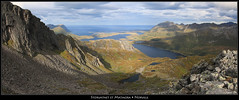 Storvatnet et Matmora (HimalAnda) Tags: panorama mountain lake norway montagne landscape norge pano norwegen lac panoramic paysage lofoten panoramique norvège nordland canoneos70d eos70d stéphanebon