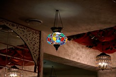 _IGP9395 (g0d4ather) Tags: light glass lamp restaurant mirror colorful indoor nobody arabian eastern